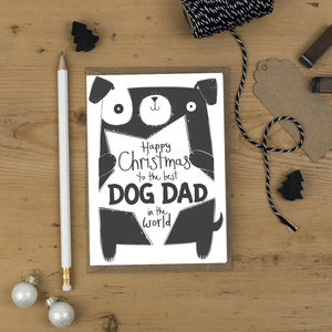 Best Dog Dad In The World Christmas Card