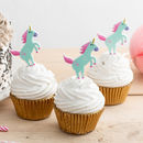 Jumping Unicorn Cupcake Toppers Set Of Six
