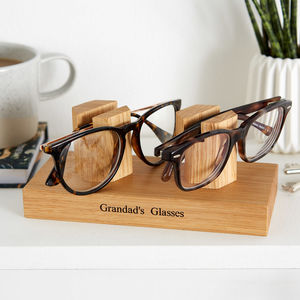 Personalised Double Glasses, Sunglasses Stand