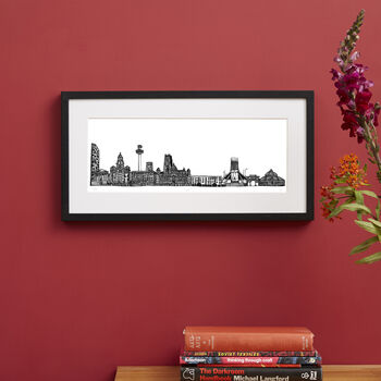 Liverpool Skyline Screen Print