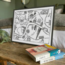City Of London Illustrated Map Print