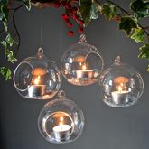 Set Of Four Hanging Tealight Bubbles - halloween