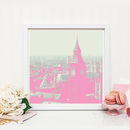 London Print In Pink