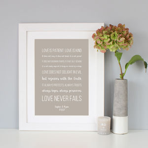 Personalised Corinthians Print - sale