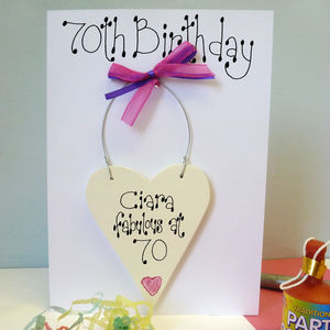 Personalised 70th Birthday Card - birthday cards