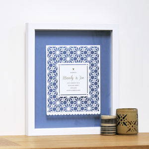 Personalised Wedding Gift Papercut Art - best wedding gifts