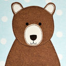 Close up of Daddy Bear Personalised Birthday Card