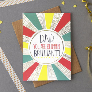 Brilliant Dad Card - winter sale