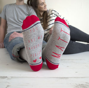 Personalised My Favourite Person Valentine's Gift Socks - underwear & socks