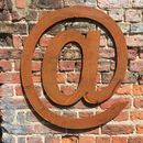 Reclaimed Big Rusty Metal Letter @ Symbol