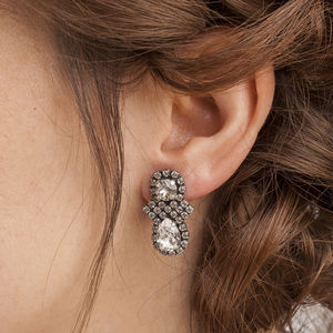 Art Deco Style Crystal Earrings