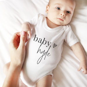Personalised Baby Name Short Sleeve Bodysuit - new baby gifts