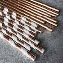 25 Metallic Paper Straws