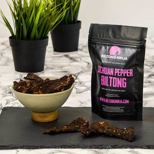 Biltong Sichuan Pepper Flavour Handcrafted Snap Sticks - savouries