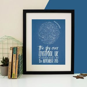 Personalised Star Chart Print