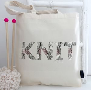 'Knitting Pattern' Knitting Tote