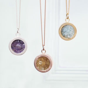 Birthstone Locket Necklace - gifts for her