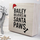 Personalised Pets Santa Paws Christmas Eve Box