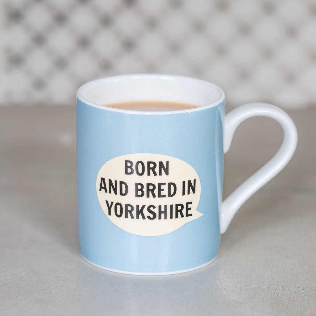 0a8d4d28dfb Blue 'Born And Bred In Yorkshire' Baby Mug