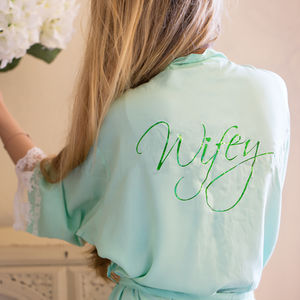 Wifey Lacie Cotton Robe - wedding fashion