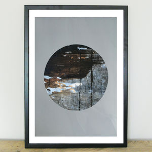 Eclipse Abstract Art Print - nature & landscape