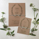 Sweet Leaves Wedding Stationery Range
