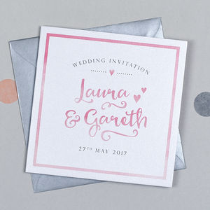 Watercolour Wedding Invitation - invitations