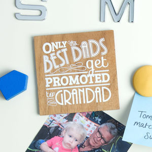 Wood Best Grandad Magnet - storage & organising