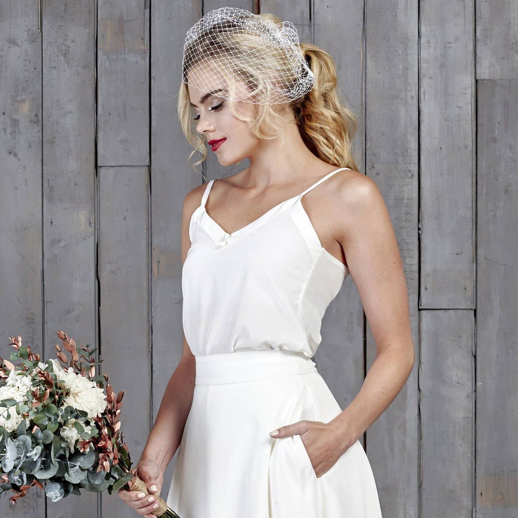 Dimmock silk bridal camisole by house of ollichon dimmock silk bridal camisole junglespirit Images