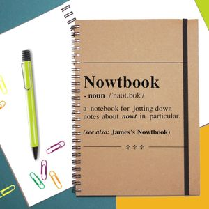 'Nowtbook' Personalised Notebook