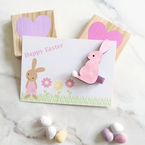 Glitter Easter Bunny And Gift Card - hair accessories