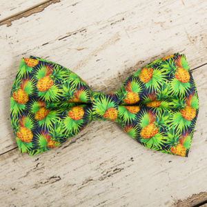 The Alderley Green Yellow Pineapple Bow - dogs