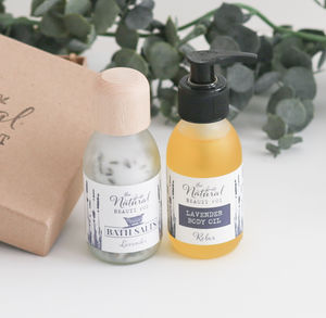 Relaxing Lavender Body Oil And Bath Salts Set - 70th birthday gifts