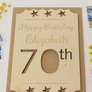 Personalised 70th Birthday Wooden Card