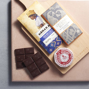 Luxury Dark Chocolate Tasting Board For Dinner Parties - food gifts