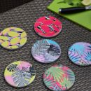 Colourful Tropical Patterned Ceramic Coasters