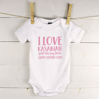Father And Child Love … Personalised Babygrow