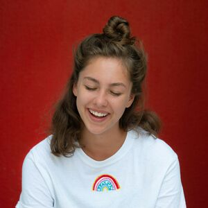 Embroidered Rainbow T Shirt