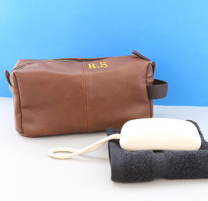 Personalised Vintage Brown Wash Bag - what's new