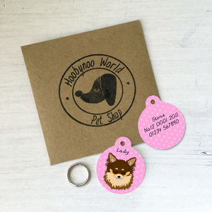Chihuahua Personalised Pet ID Tag - pet tags & charms