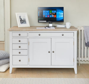 Ridley Grey Hidden Home Office Desk - dressing tables