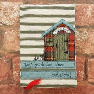Gardeners Shed Notebook, Reusable - personalised
