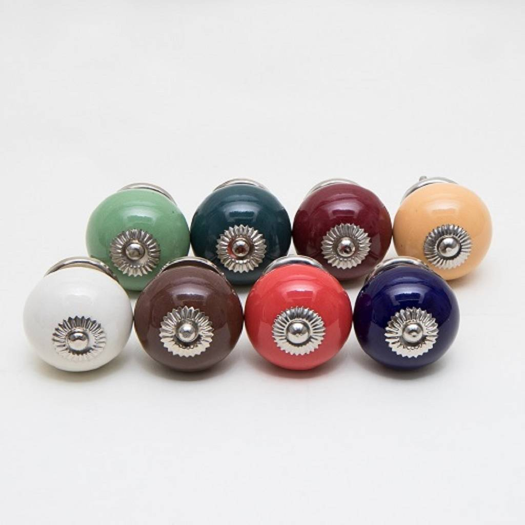 Set Of Eight Ceramic Tomato Knobs