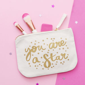 'You Are A Star' Little Canvas Pouch - 16th birthday gifts