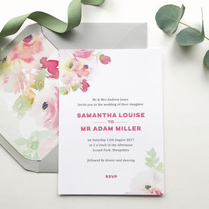 Lucy Watercolour Wedding Invitations