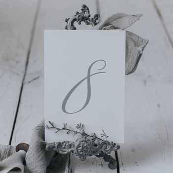 Emily Table Number And Name Cards