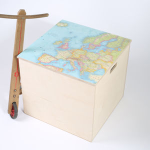 Personalised Map Location Toy Box - toy boxes & chests