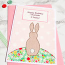 Large A5 personalised girls birthday card