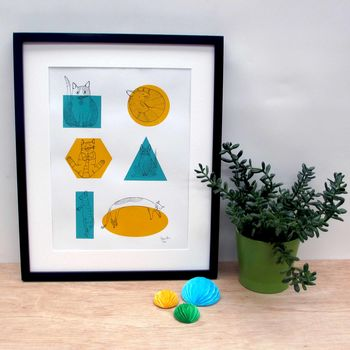 Art Print 'Shape Shifters' A Three Colour Screen Print