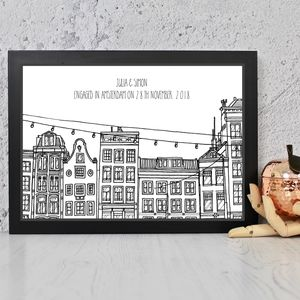 Amsterdam Houses Personalised Print